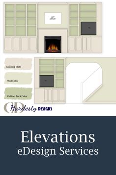 E-design elevations are essential tools when you need help planning the vertical areas of your space.  They are the perfect tools to assist you in laying out a gallery wall, built in cabinets, tile design and so much more!