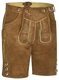 Trachten Men's Leather Trousers Short with Strap Antique Brown Dark Brown … - Mens Fansion Mens Leather Trousers, Leather Men, Oktoberfest Costume, Cooler Look, Lederhosen, Dark Brown, Sweatshirt, Costumes, Traditional