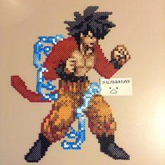 SSJ4 Goku perler bead sprite by saladbrains