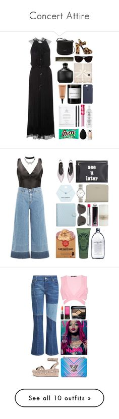 """""""Concert Attire"""" by katrinattack ❤ liked on Polyvore featuring Lancaster, Prada, Tiffany & Co., Zimmermann, UGG, John Varvatos, NARS Cosmetics, Byredo, Lime Crime and beautyblender"""