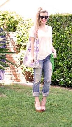 Jeans & a White T Outfit No. 24 ~ 80's Eclectic