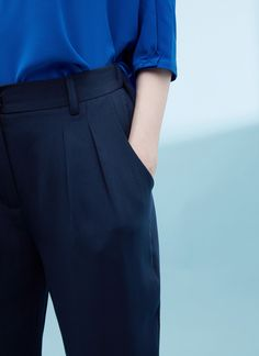 Slim-Fit Ankle Trousers With Zips - Collection | Adolfo Dominguez shop online