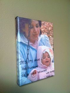 Your Own Handwriting on Canvas - Canvas Art - Custom - gift for mom by Handwritten Sentiment, $30.00