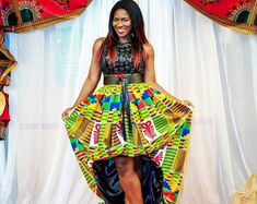Your place to buy and sell all things handmade Ankara Skirt, Ankara Fabric, Balloon Skirt, Bubble Skirt, Animal Print Dresses, Different Fabrics, African Dress, Cheetah Print, Balloons