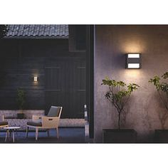 Philips Arbour LED Up & Down Outdoor Wall Light with PIR Black 600lm 4.5W…
