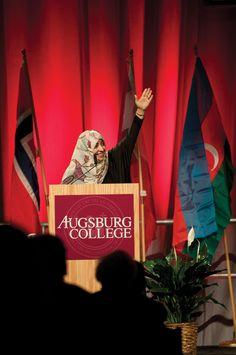 Tawakkol Karman is a 2011 Nobel Peace Prize Winner, journalist, and human rights activist.