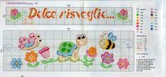 Baby Cross Stitch Patterns, Cross Stitch For Kids, Cross Stitch Baby, Cross Stitch Animals, Cross Stitch Charts, Cross Stitch Designs, Baby Patterns, Embroidery Stitches, Embroidery Patterns