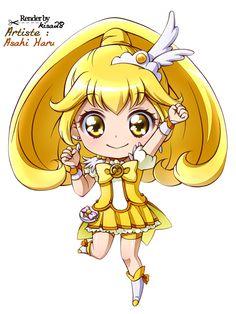 Render Animes et Manga - Renders Smile Precure Cure Peace Kise Yayoi chibi Asahi Haru jaune