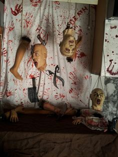 Annual Halloween party, which we organize in the butchery.- Annual Halloween party, which we organize in the butchery. Halloween Prop, Spooky Halloween, Asylum Halloween, Easy Halloween Decorations, Halloween Party Themes, Halloween Haunted Houses, Halloween Birthday, Halloween Crafts, Adult Halloween