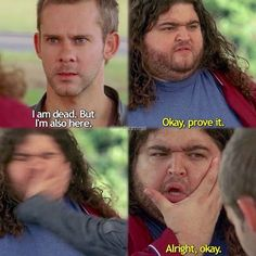 Hurley and Charlie on Lost Lost Memes, Lost Quotes, Movies And Tv Shows, Series Movies, Tv Series, Charlie Pace, Charlie Lost, Lost Season 4, Lost Tv Show