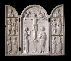 Borradaile Triptych one of the ''Romanos'' group of ivory triptychs carved in Constantinople in the 10th century . Now in the British Museum