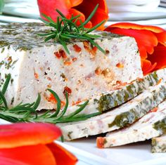 JULES FOOD...: Chicken Terrine with Bacon and Sun Dried Tomatoes