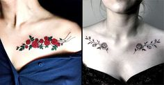 Trace Your Lovely Bones with These Beautiful Collarbone Tattoos | Tattoodo