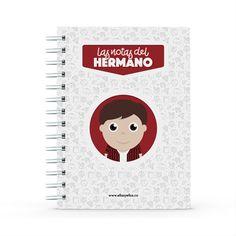 Cuaderno - Las notas del hermano, encuentra este producto en nuestra tienda online y personalízalo con un nombre. Notebook, Dietitian, Notebooks, Report Cards, Training, Store, Brother, The Notebook, Exercise Book