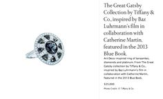 """Tiffany & Co. jewelry inspired by and for the movie """"The Great Gatsby""""."""