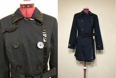 vintage 90's International concept trench coat. black by june22nd