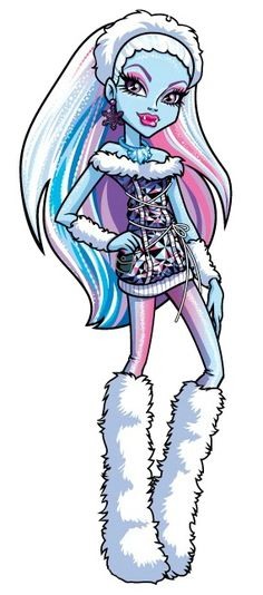 Abbey Bominable is a former foreign exchange student turned permanent student from Russia, and daughter of the Yeti. She is a main character of Monster High and the obscure anime based on it. In English, Abbey is voiced by Erin Fitzgerald. Fantasia Monster High, Soirée Monster High, Monster High Abbey, Monster High Birthday, Love Monster, Monster High Halloween, Halloween Face, Ever After High, Trajes Monster High