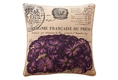 Kitchen/Dinning Room, maybe?   -  One Kings Lane - Sunny Breakfast Nook - French Hydrangea 20x20 Pillow, Purple