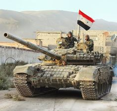 Syrian T72 with reactive armor