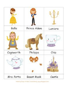 Preschool Printables: Beauty and Beast
