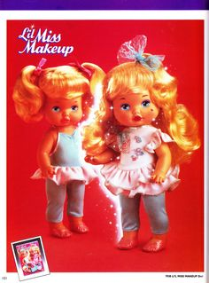 Lil Miss Makeup toys dolls. I now realise this is quite an inappropriate toy for little girls 90s Childhood, Childhood Memories, 1990s Toys, Frederique, Back In The 90s, 80s Kids, Kids Tv, I Remember When, Retro Toys
