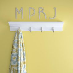Keep your towels organized with these initials above your towel bar!