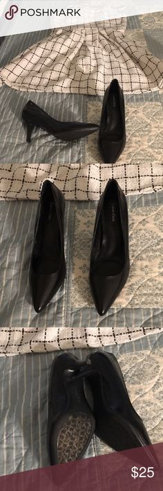 Calvin Klein heels 2 inch heels that are perfect for any outfit. only worn around the house. Calvin Klein Shoes Heels