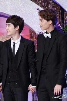So perfect. Kai should wear bowties more often.
