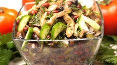 Вкусный простой салат выручит вас в ситуации, когда гости уже на пороге. Салат с фасолью и грибами получается очень вкусным, сытным и ароматным. Приготовить его можно минут за...