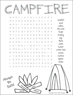 Fun campfire free printable
