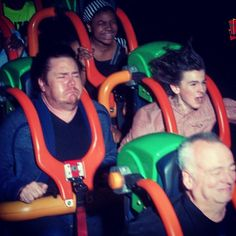 Josh McDermitt and Chandler Riggs on Kingda Ka at Six Flags Great Adventure August 18, 2014 - (joshmcdermitt Instagram)