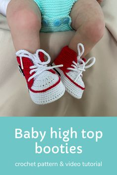 Digital pattern includes pdf description with photos and video tutorial with subtitles. Inspired by Converse, this crochet pattern of baby booties makes a great and memorable pregnancy gift, baby shower gift, fashion baby outfit.#crochetpattern #crochetbabyshoes #babybooties Booties Crochet, Crochet Baby Shoes, Baby Booties, Pregnancy Gift For Friend, Pregnancy Gifts, Diy Baby Gifts, Baby Shower Gifts, Craft Projects For Kids, Diy For Kids