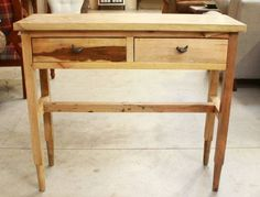 """Style = Rustic Drawer Qty. = 2 Dovetail Const. = Dovetail Const. Height: 31 """" Width: 12 """" Length: 36 """" $349"""