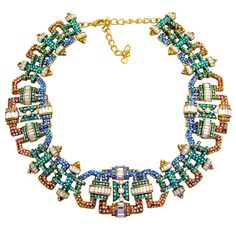 New Art Deco Style Crystal Collar Necklace