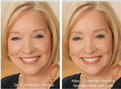 Dr. Christine Northrup....................... By: Sharon Danley............................  Dr. Northrup's strength lash line and corrected brow shape make a subtle yet definite enhancement to her otherwise polished look.