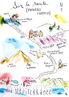 provence roadtrip~love her sketches