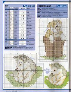 Schema punto croce Cuccioli Cani 2