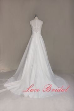 Gorgeous Lace Wedding dress Bateau Neck Bridal gown by LaceBridal, $298.00