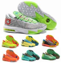2014 New Brand Men KD 6 basketball shoes Easter Christmas BHM Illusion kevin KD6 vi durant Away PBJ Ice Cream HOME Liger on sale(China (Mainland))
