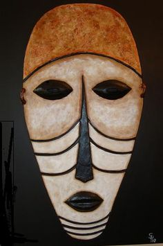 Buy the latest works of Sonaira Piñero at Artmajeur - elisabeth Tribal Theme, Arte Tribal, Tribal Art, Africa Art, West Africa, Maori Face Tattoo, Ceramic Mask, Mask Images, Atelier D Art