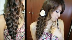 Mermaid Tail Braid Hairstyle Hair Tutorial-- looks like a six strand braid, but so much easier!