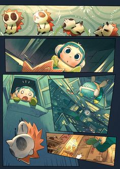 This short comic is about weeta and a little girl in the new year's night. bibo X Xiamen, China Comic Book Layout, Comic Book Pages, Comic Books Art, Comic Style Art, Comic Styles, Character Design Animation, Character Art, Manga, Children's Comics