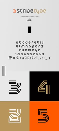 c8ff27fe 3.Stripe.Type | Display Type on Behance Graphic Design Inspiration, Fonts,
