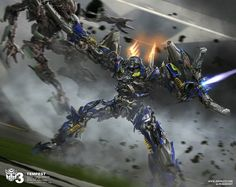Transformers Concept art by Josh Nizzi
