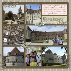 Epoisses #digital #scrapbooking #layouts, layouts, digital, scrapbooking, ideas, layout, Scrapbook Epoisses, Digital Scrapbooking Layouts, Building, Travel, Construction, Voyage, Trips, Traveling, Destinations