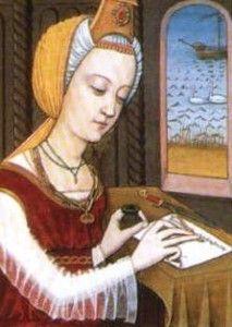 """Trotula De Ruggiero. Durante la sua vita Trotula si guadagnò l'appellativo di Magistra Mulier Sapiens, le sue opere erano largamente diffuse e la sua reputazione era così importante da ritrovare menzionato il suo nome anche ne """"I racconti di Canterbury"""" di Geoffrey Chaucer (1388 – 1400) e, in seguito, nella prima metà del XIX secolo, fu anche coniata una moneta in bronzo in suo onore."""