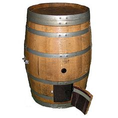 Ever thought about keeping your chickens in a wine barrel? Well know you can with this coop. A reclaimed oak wine barrel, varnished and fox proof. Suitable for a couple of hens. Fully treated, varnished and watertight, this barrel would look lovely in any garden. This 'chicken chateau' has a small 'pop hole' door in the front to let your chooks out and a larger door in the rear provides access to eggs and for cleaning. Also suitable for Ducks, Rabbits, Guinea Pigs & Ferrets. #wine