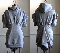 How to make a hoodie-dress