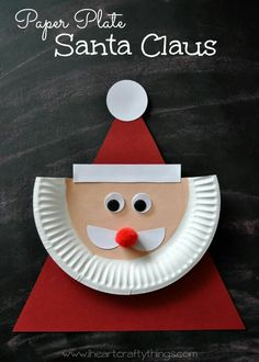 Use A Paper Plate And Various Shapes To Create This Darling Santa Craft Great For Preschoolers Reinforce Its Christmas