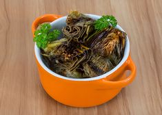 Artichokes Istanbul-Style   Oldways Mediteranian Diet Recipes, Cetogenic Diet, Keto Recipes, Vegetarian Recipes, Mediterranean Recipes, Istanbul, Meal Prep, Nom Nom, Spices